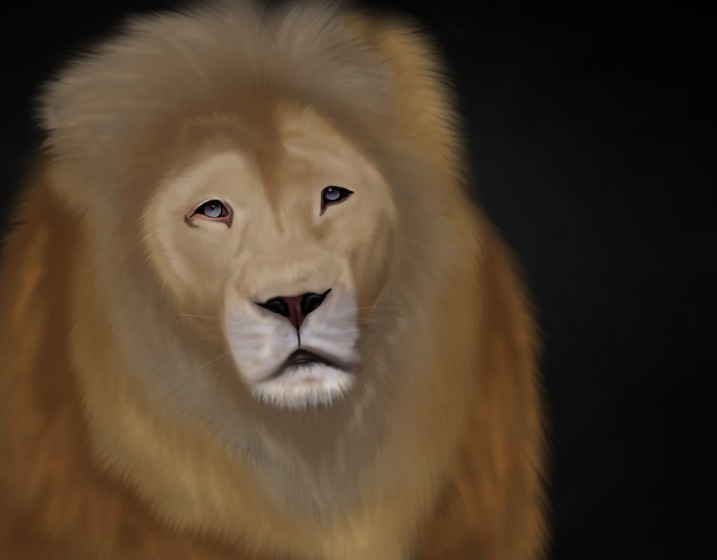 Lion Painting by SeaHeartStables