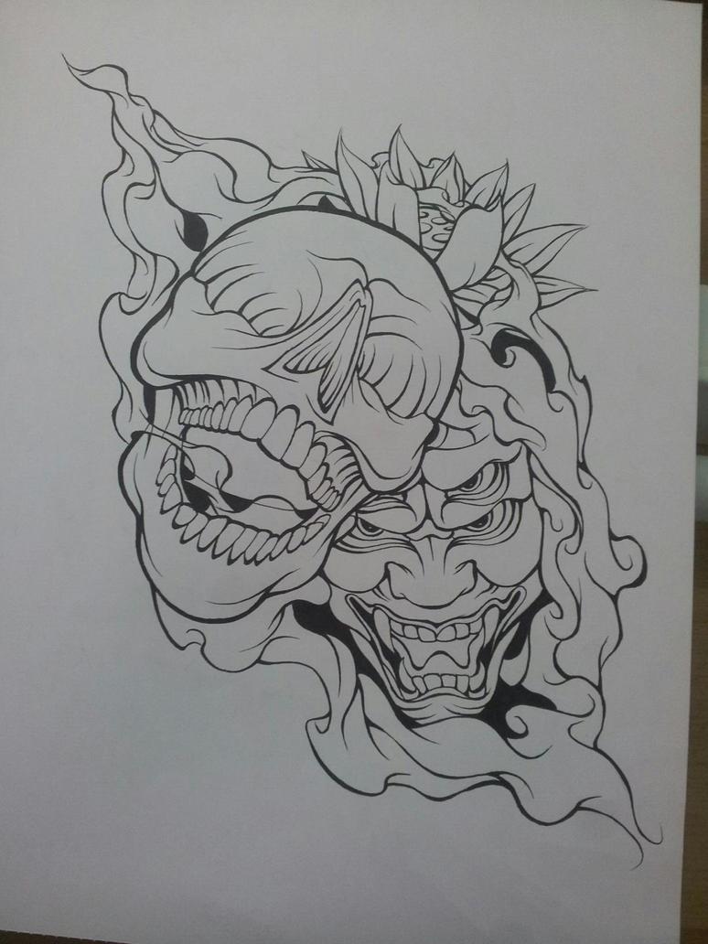 Wip Skull Demon Design By Magnasicparvis On Deviantart