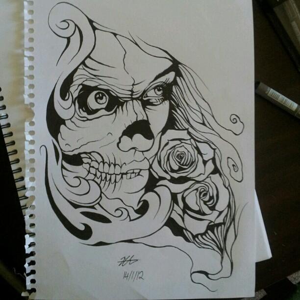 Skull Girl by MagnaSicParvis