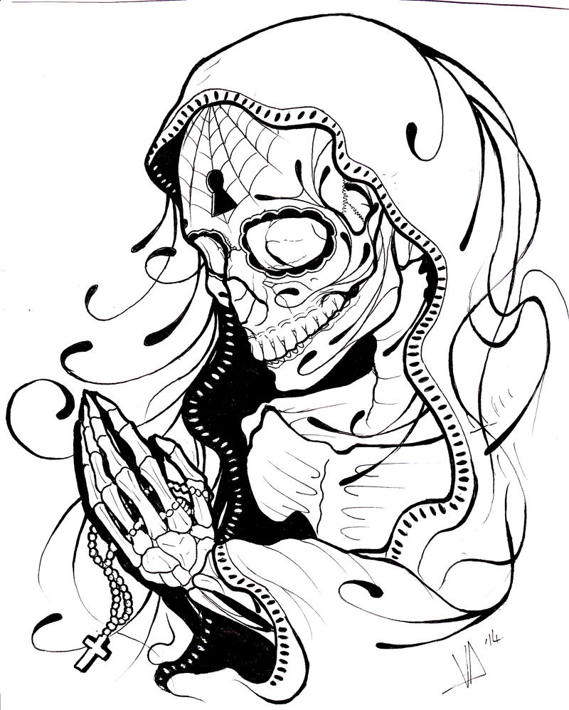 Prayer Skeletal by MagnaSicParvis on DeviantArt