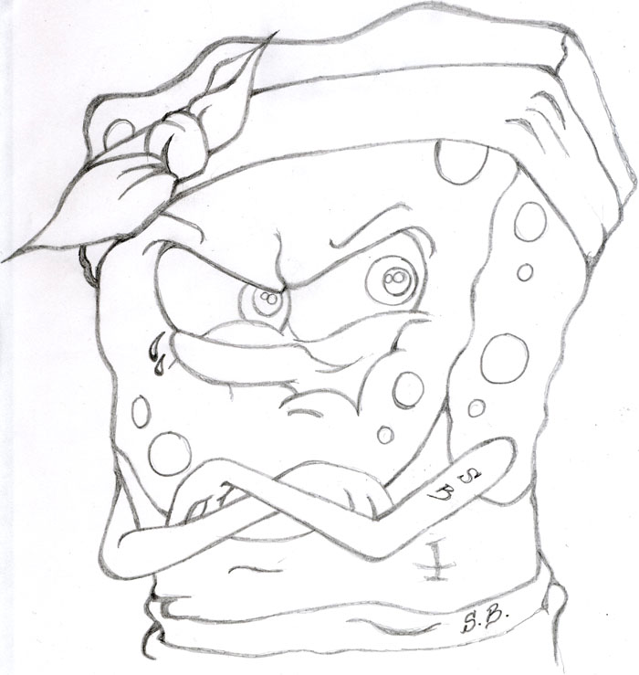 hood spongebob coloring pages - photo#4