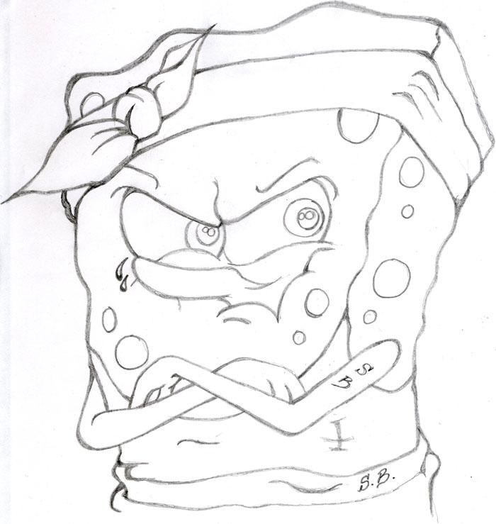 gangsta spongebob by tha-arteest on DeviantArt