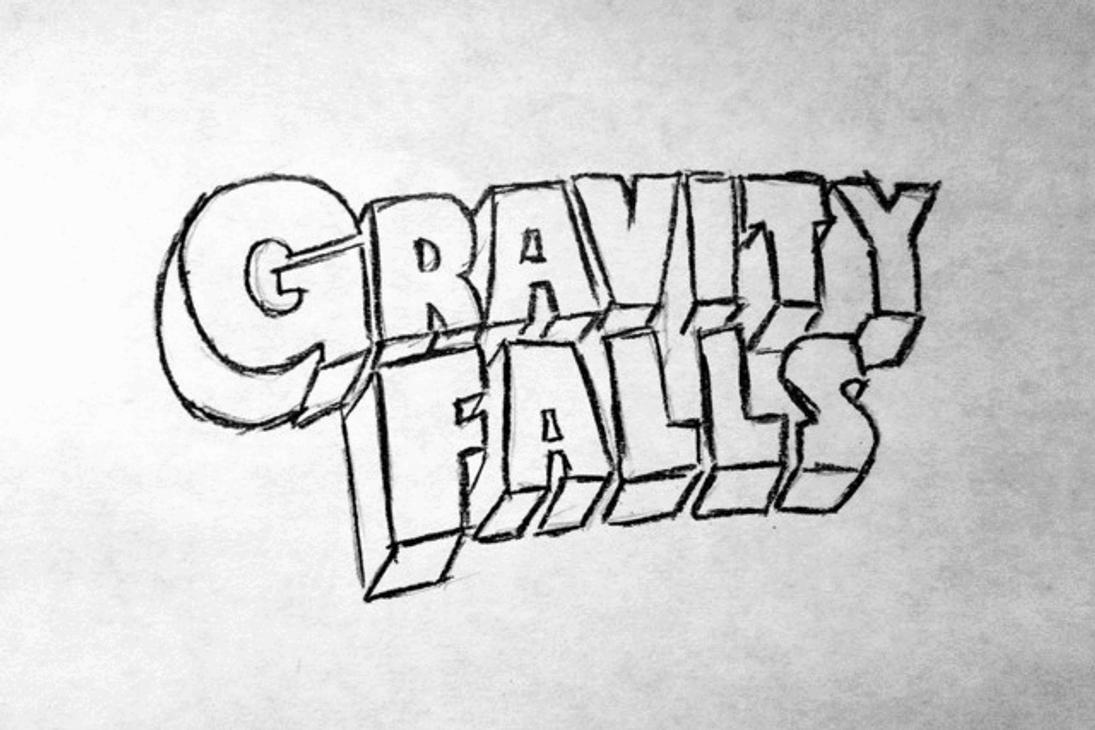 D Line Drawings Logo : Gravity falls drawing logo gif by zhoolego on deviantart