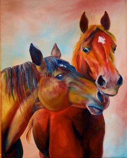 Belinda's Horses by dawnsartstudio
