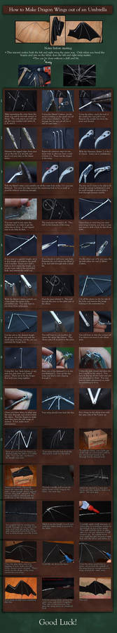 Dragon Wing out of an Umbrella - Tutorial