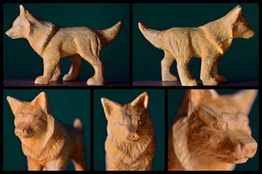Little Wooden Dog by Aliuh