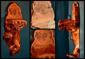 Wooden Owl Shelf