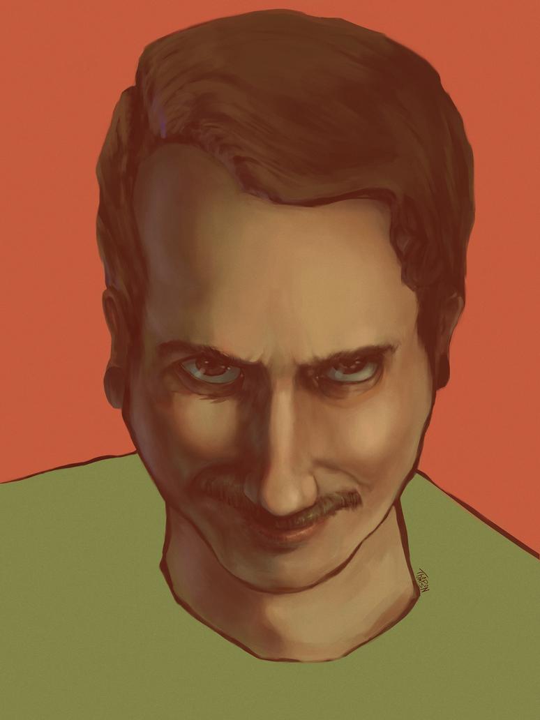 Self Portrait 9-27-17 by TrueInstinct