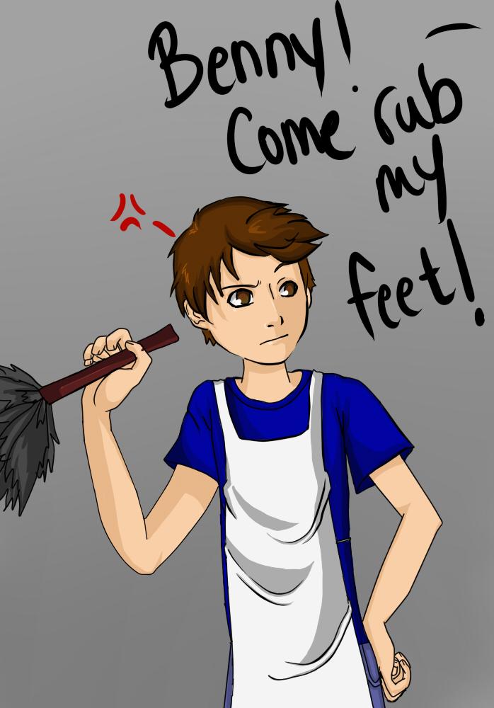 Benny, come rub my feet by xx-BlueSky-xx