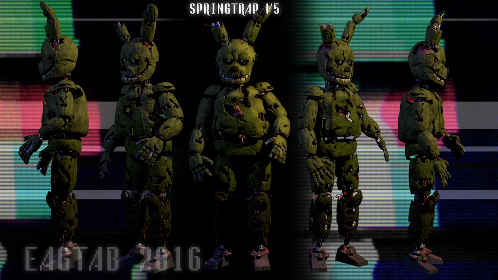 Springtrap Model By Apprenticehood On Deviantart - Www