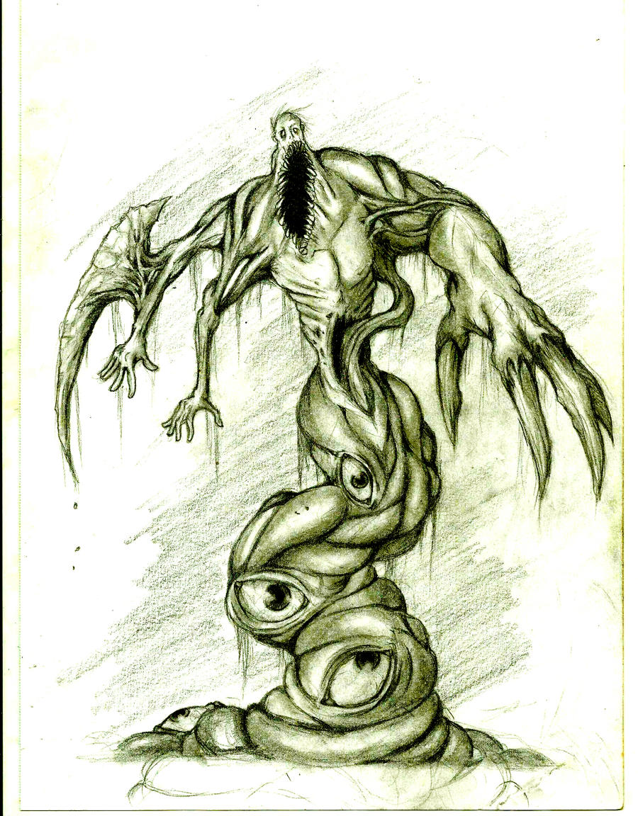 Undead mutant fish - Greyscale by Nether83 on DeviantArt