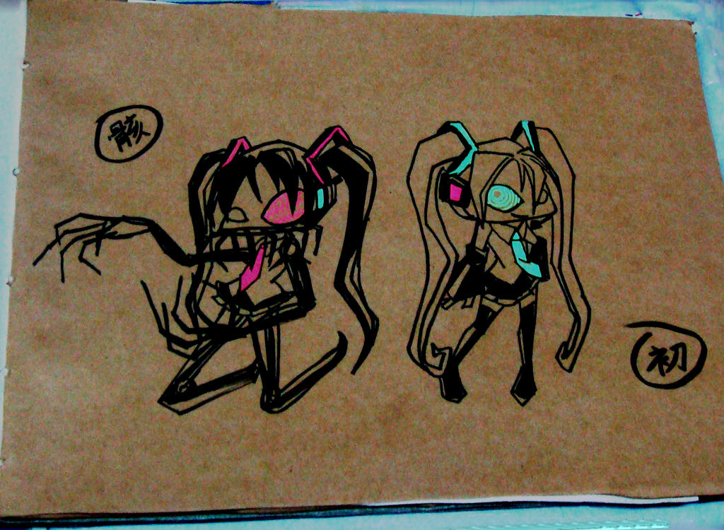 Karune and Miku by Tanglili