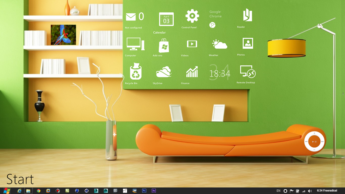 Living Room Rainmeter Desktop By Freeradical1981 On Deviantart