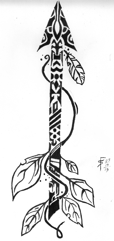 tribal arrow by draconistheory on deviantart. Black Bedroom Furniture Sets. Home Design Ideas