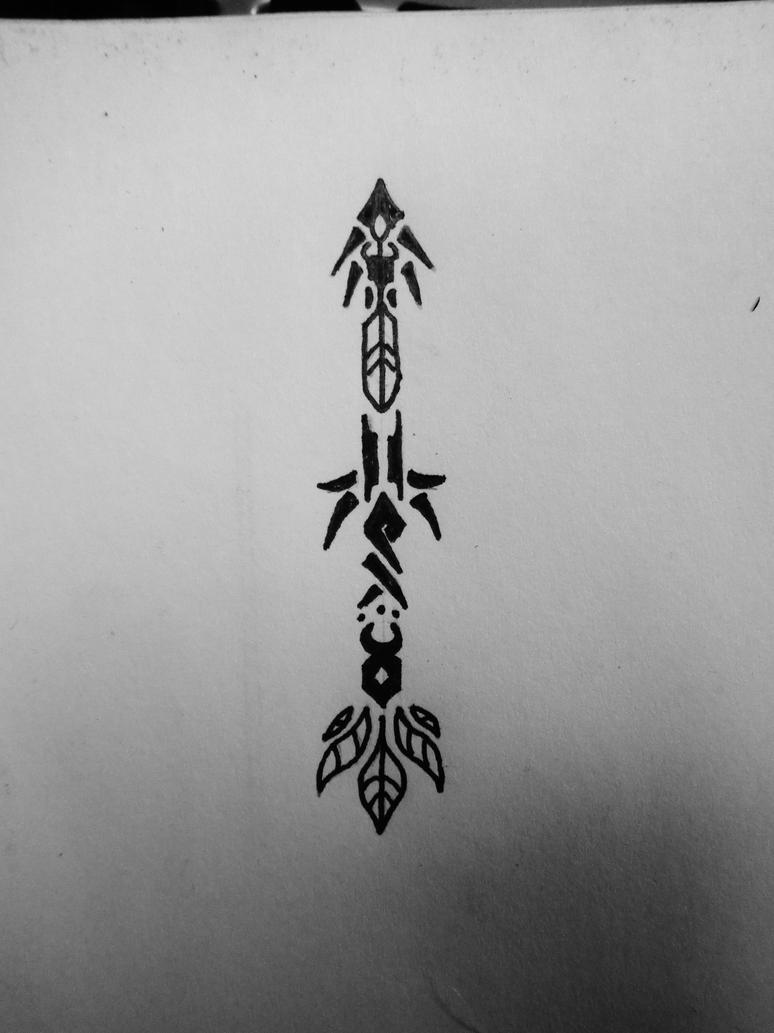 3 inch tribal arrow by draconistheory on deviantart. Black Bedroom Furniture Sets. Home Design Ideas