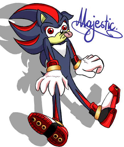 Sonic - Schadoh the Hedgehog by N1ght1ng4L3
