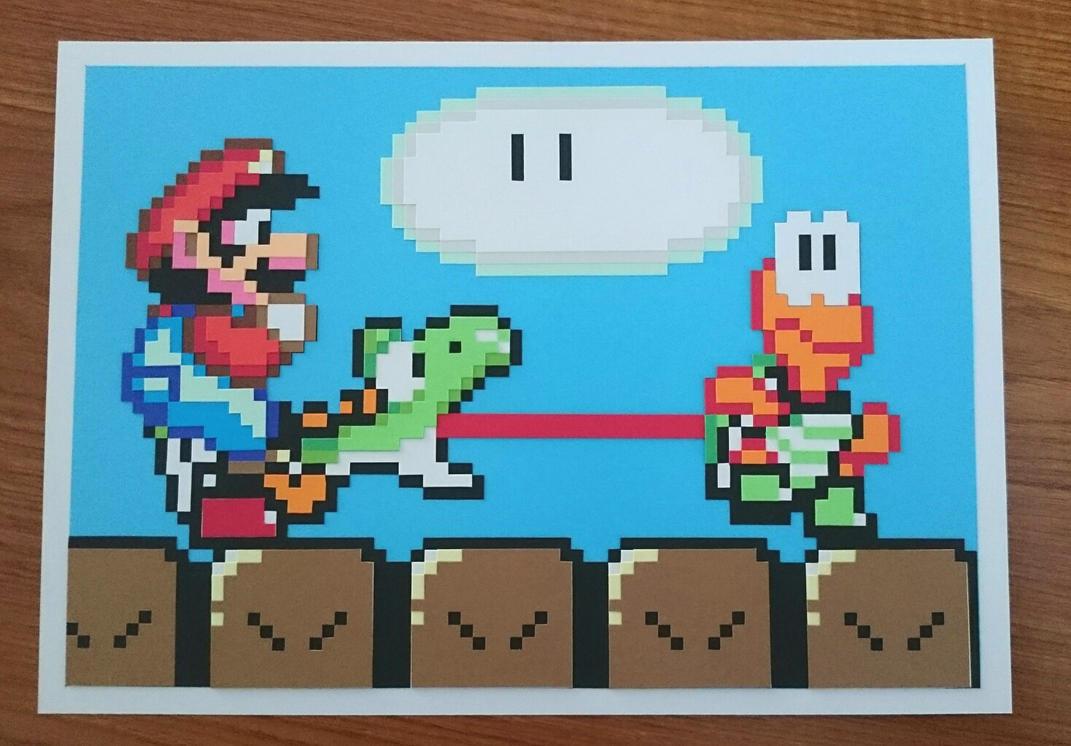 Mario snes papercut picture by swiftflik