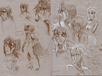 some sketches by The-dolphins-cry