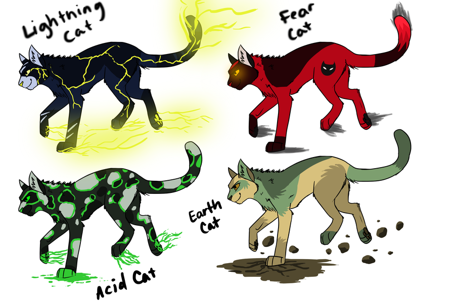 Elemental Cat Adoptables By TheEightKingdoms On DeviantART