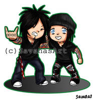 Nikki and DJ Chibis by SavanasArt