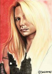 Vince portrait WIP by SavanasArt