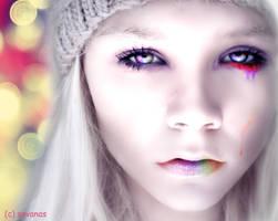 Rainbow Tears by SavanasArt