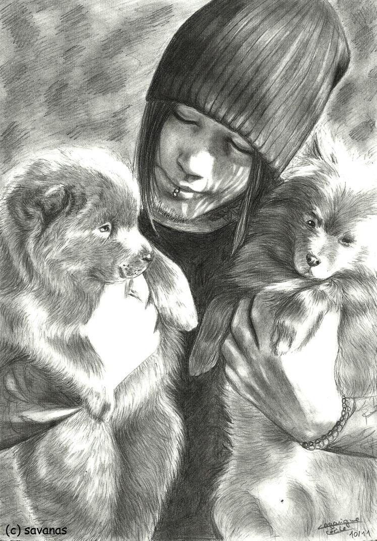 vos dessins de DJ - Page 2 Dj_with_puppies_by_savanas-d4dw00h