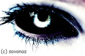 Dark Blue Eye by SavanasArt