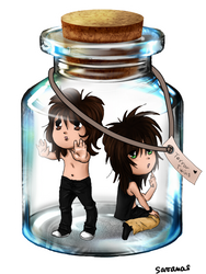 Terror Twins in a Jar by SavanasArt