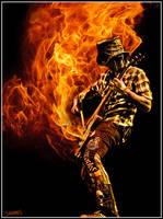 Fire Guitar by SavanasArt