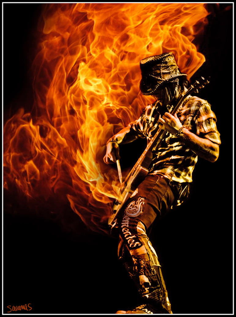 Fire Guitar by SavanasArt on DeviantArt