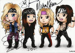 Steel Panther - signed drawing