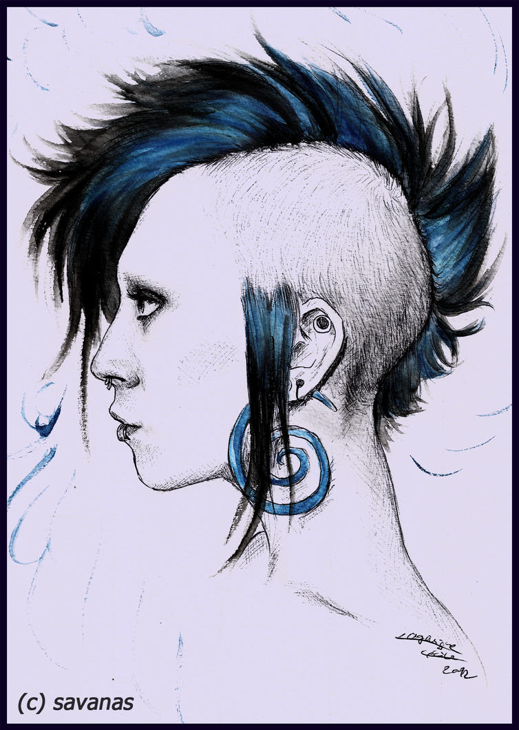 Blue Mohawk by SavanasArt