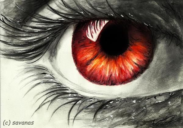 Fire Eye by SavanasArt