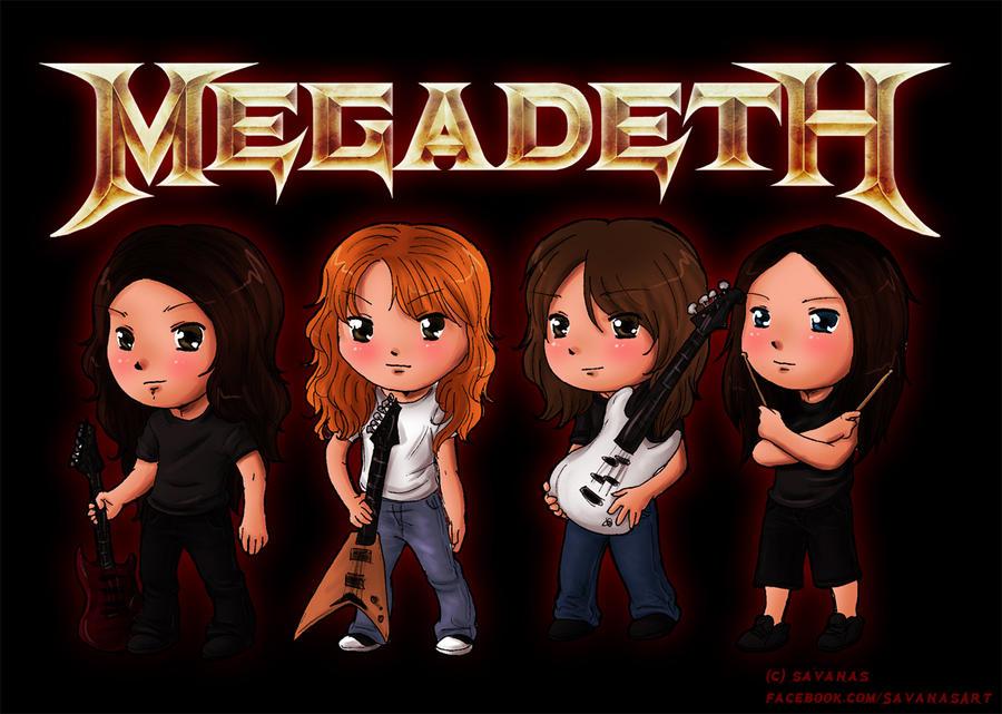 Megadeth Chibis by SavanasArt
