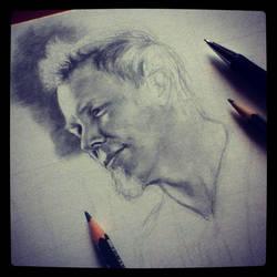 James Hetfield WIP by SavanasArt