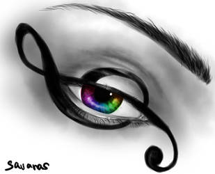Rainbow Music Eye by SavanasArt