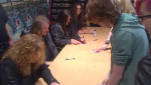 Megadeth signing by SavanasArt