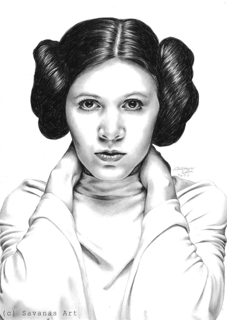 Princess Leia by SavanasArt