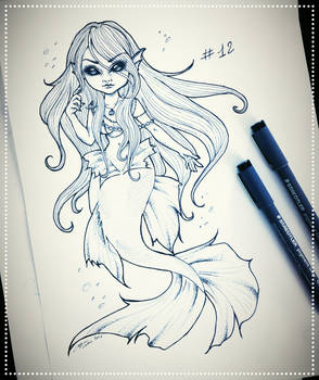 Inktober 12: Spoopy Mermaid