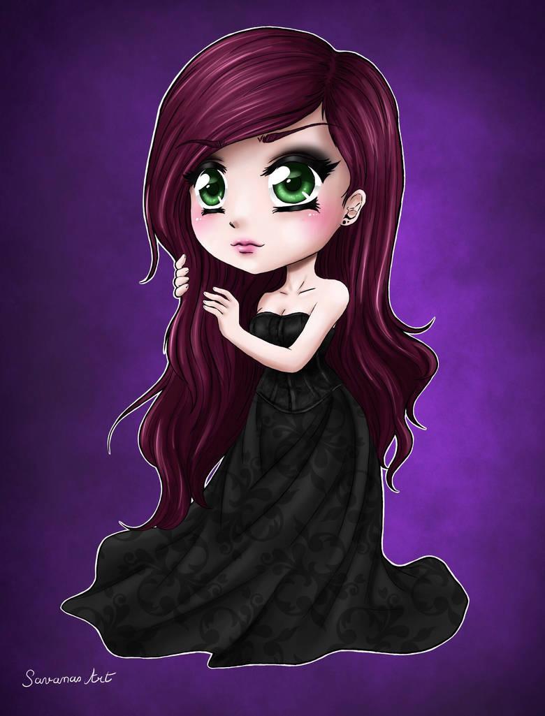 Purple dress by SavanasArt
