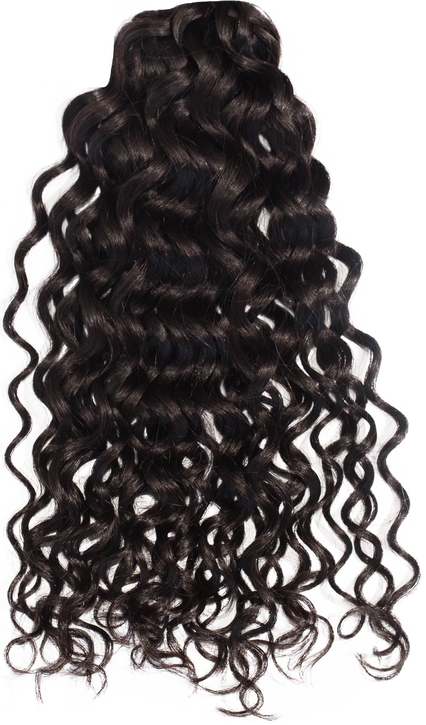CURLY HAIR FROM BEHIND LOOK
