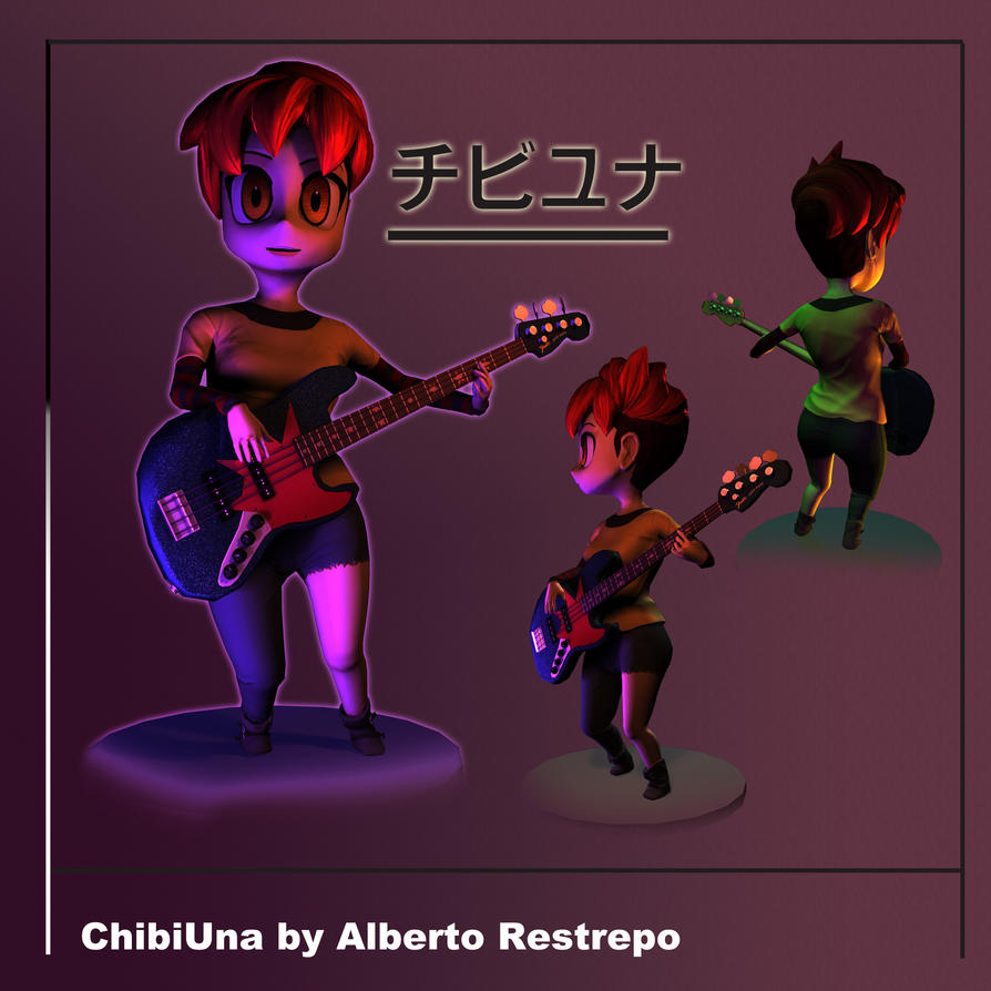 ChibiUna Bass Pose by betolycan