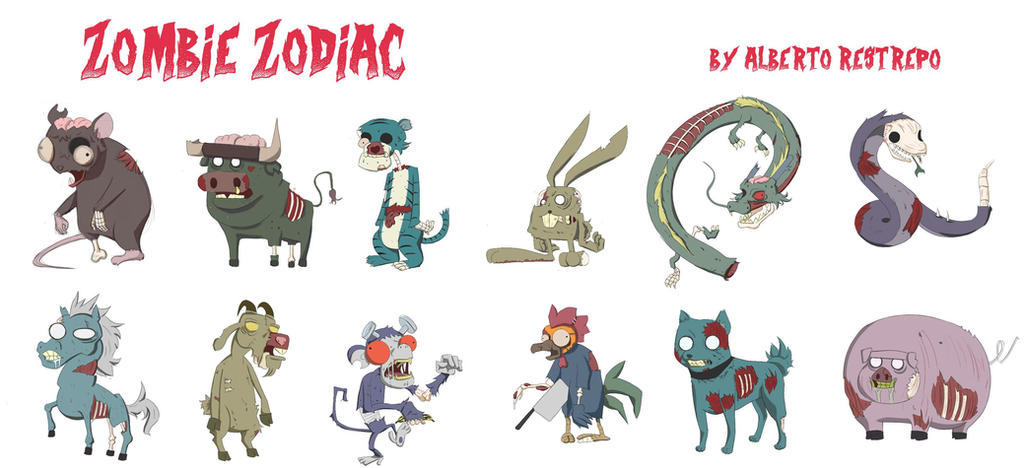 Zombie zodiac by betolycan