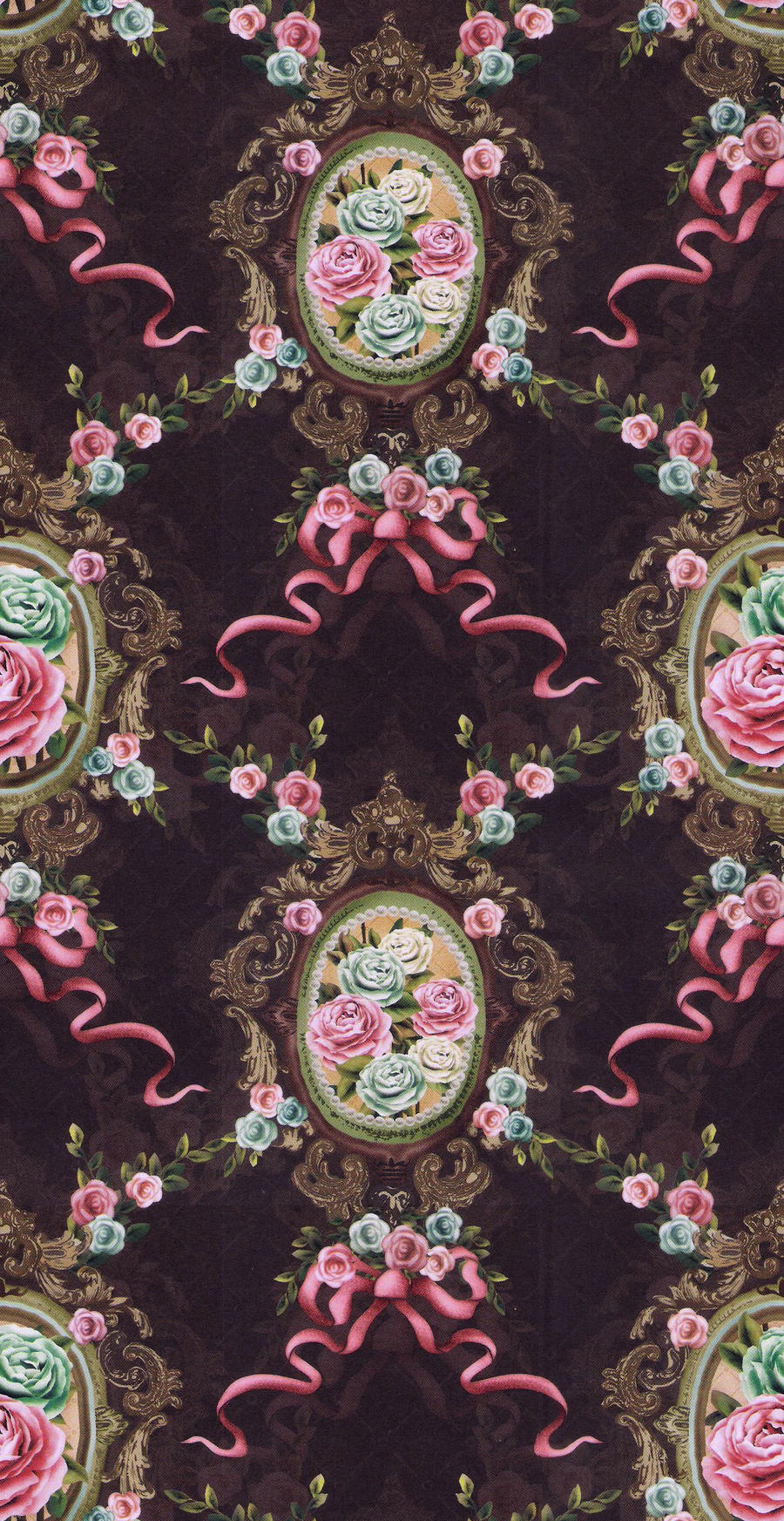 tileable rose cameo