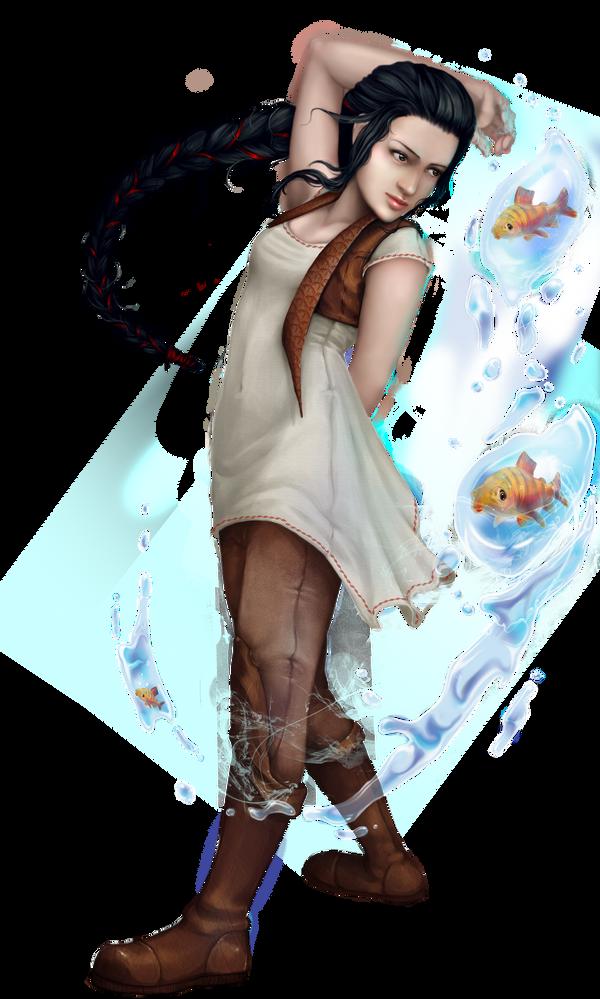 fisher girl by RomanticFae