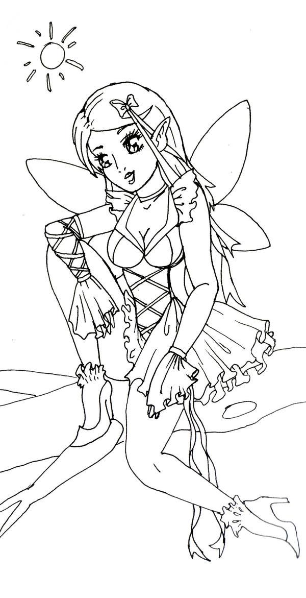 Wildflower Line Drawing : Wildflower line art by romanticfae on deviantart