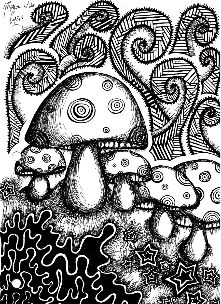 coloring pages of shrooms - photo#40