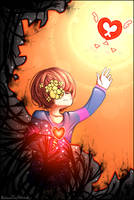 Deviantart 17 birthday with Frisk! by BelieveTheHorror