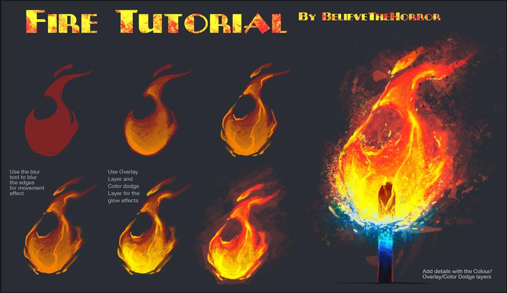 Fire Tutorial by BelieveTheHorror